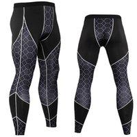 Pantalon de fitness homme imprimer patchwork traverser une formation élevée élastique tendue mode mince jambières de fond occasionnels hommes