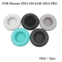Skórzane poduszki do uszu białkowego dla monster DNA Pro On-Ear Headphone Zapasowe Miękkie Earpads Pads Okładki z pianką pamięci Premium