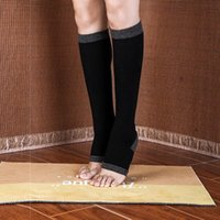 Sports Socks Women Open Toe Calf-length Breathable Leg Sleeve Young Female Workout Athleisure Under Knee Stockings