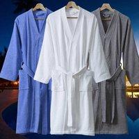 Women's Sleepwear 2021 Winter Women 100% Cotton Thick Terry Bathrobe Water Sucking Towel Fleece Bath Robe Plus Size Dressing Gown Kimono