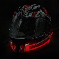 2021 luminoso casco tira led luz de película de película de película fría lámpara de motocicleta