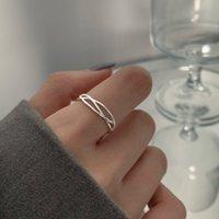 Love Ring Sier Cross открытие женских простых S925 ниша дизайн моды универсальный холодный ветер указательный палец