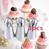 3pcs Pastry Bag Nozzle DIY Silicone Cake Decorating Tip Set Mouth Kitchen Cream Cookie Baking Decor Tools &