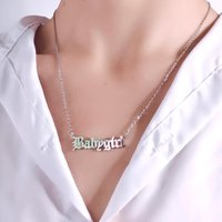 Fashion Jewelry Stainless Steel Babygirl Necklace Women Chain Gold Necklaces Statement Igirl Letter Baby Girl Nacklace Chains