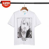 Estate nebbia Keben Test of God Rock Band Retro Ritratto stampa T-shirt manica corta # VN6Q