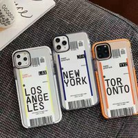 Air ticket Transparent cases For iPhone 12 11 Pro X Xr Xs Max Mini 7 8 Plus SE Travel City Bar Code Label colorful funny soft TPU back Cover