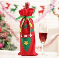 Weihnachtsmann Geschenk Taschen Weihnachtsdekorationen Rotwein Flasche Abdeckung Taschen Weihnachten Santa Champagner Weinbeutel Weihnachten Geschenk 30 * 15cm GWA7442