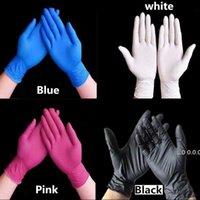 Tek Kullanımlık Lateks Nitril Eldiven Siyah Mavi Beyaz Pembe PVC Eldiven Güzellik Saç Boyası Kauçuk Lateks Mutfak Aletleri Deney Dövme FWD10925