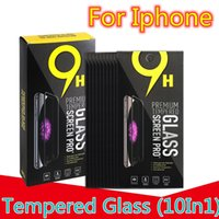 10 in1 Tempered glass screen protector for Iphone 6 7 8 plus x xr xs 11 12 13 mini pro max Samsung lg android phone With Retail Box