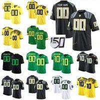 Трикотажные изделия из колледжа NCAA Орегон Утки 10 Джастин Герберт 7 CJ Verdell 5 Kayvon Thibodeaux 3 Джонни Джонсон III Пользовательские Футбол сшиты