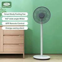 Dream Maker-Fans 140 ° Weitwinkel 14m Blasbereich DC-Wechselrichter Energiesparendes super stummes Smart Body Feeling Fan für Zuhause