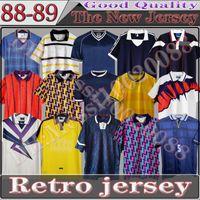 78 82 84 86 89 91 93 94 95 96 98 Escócia Retro Jersey Copa do Mundo Equipamentos Home Blue Kits 1996 1998 Classic Vintage Scottish Camisa Tops Final