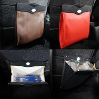Car Organizer Auto Seat Back Hanging LED Trash Can Garbage Holder Storage Bag Universal Styling Accessories Interior