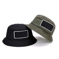 D101 sommer faltbare baumwolle fishermans hut sonne schützer hüte für outdoor reisen sport basin cap grün schwarz 2 farben