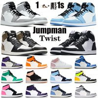nike air jordan retro 1 1s off white أعلى جودة تويست أحذية كرة السلة 1 1 ثانية محظوظ الأخضر ريترو منتصف شيكاغو تو رجل إمرأة UNC expedian الحريرأحذية مدربين الأردن