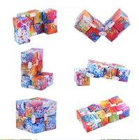10 색의 압축 해제 컬러 무한대 큐브 미니 장난감 어린이 마술 블록 성인 손가락 불안 스트레스 구호