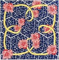 Scarves Big Size Scarf Women Square Twill Silk Camellia Flower Design Shawl Bandanas Wholesale 130*130CM