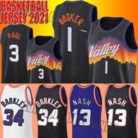 Baloncesto Devin 1 Booker Jersey Chris 3 Paul Jerseys Throwback Charles 34 Barkley Steve 13 Nash Jersey