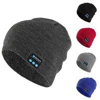 Bluetooth música fone de ouvido beanie built-in estereofonômetro estéreo chapéu de malha para homens mulheres correndo tampa ao ar livre esportes T8