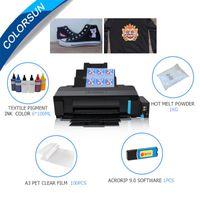 Colorsun L1800 DTF Принтер A3 Набор для всех тканевых принтеров