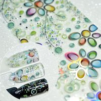 4*100cm Flower 3D Nail Art Stickers Plastic Paper Colorful Wrap Design Transfer Foil Decals Need Glue Easy To Use1