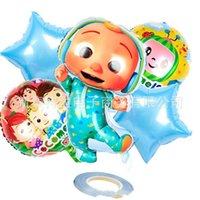 18inch Cocomélon Foiler Balloon Party Fournitures Décoration Latex Balloon Anniversaire Décorations de fête Enfants Jouet Ballon Baby Douche 1197 Y2