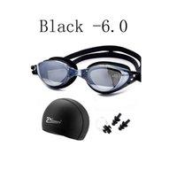 قصر النظر نظارات السباحة المهنية وصفة الطلاب الكبار بركة قبعات ماء piscina الأذن التوصيل الغوص نظارات السباحة نظارات sqcwee home2006