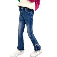 Mädchen Jeans Skinny Slim Hosen Boot Cut Bottom Kinder Denim Hose Für Kinder Teenager Kleidung 6 8 10 12 14 Jahre