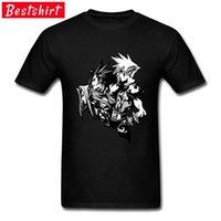 Final Fantasy Sephiroth Zack und Wolke Videospiel T Shirts Japanisches PC Video Tshirt Männer Slim Fit T-Shirt Faddisch Großhandel 210420