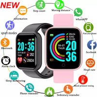 With Retail Box New Smart Watches Y68 D20 Bluetooth Fitness Tracker Sport Watch Heart Rate Monitor Blood Pressure Smartwatch Bracelet For Women Men Android IOS