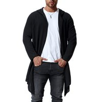 Men's Trench Coats 2021 Autumn Large Size Long Section Without Buckle Windbreaker European And American Style Hooded Cape Coat M-4XL 5XL