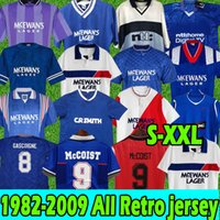 Glasgow Rangers Retro Soccer Jerseys Gascoiigne 1982 1984 82 82 83 84 86 87 90 92 93 94 95 96 97 99 2001 02 03 MCCOIST ALBERTZ CLASSIC VINTAGE JERSEY CHEMISE DE FOOTBALL