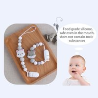 Pacifiers# DIY Personalized Name Handmade Pacifier Clips Holder Chain Teething Silicone Chains Baby Teether Dummy