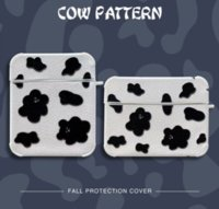 Luxury Cute Cow Pattern Leather Soft Cases for Apple Airpods 1 2 Pro Earphone Cover Hearphone f