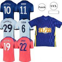 2021-2022 كرة القدم الفانيلة CFC كرة القدم قميص Kante Giroud Pulisic Man Werner Mount Ziyech Lampard Kids Havertz Kit T. Silva Abraham Set Chilwell