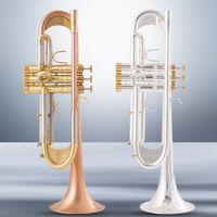 American Baha TR600GS B Flach Trompete Instrument Plus Heavy Phosphor Bronze gebürstet versilberte professionelle Leistung mit Fall
