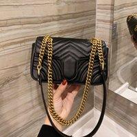 2021 Kadınlar Klasik Moda Çanta Luxurys Tasarımcılar Omuz Çantaları Marmont Messenger Çanta En Kaliteli Flap Zincirleri Çapraz Vücut Çanta Aşk Kalpler Cep Marka Totes