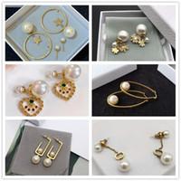 Women Charm Earings Jewelry luxurys designers Earrings Studs Pearl Earring Fashion des boucles d'oreilles designer good