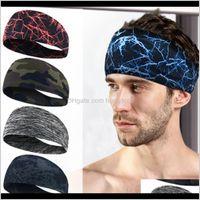 Homens do esporte Mulheres Unisex sob suor Wicking Stretcing Athletic Bandana Headscarf Yoga Headband Headband Wrap Sweatband 5 Cores Waalz 3ntwz