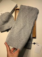 Stylish Color Scarf Beanie Cap Designer Lettera Jacquard Beanie Uomo Donna Calda Cappello da sci Unisex Sciarpa sciarpa