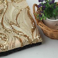 New Sequin bead lace embroidered mesh clothing wedding dress fabric
