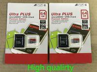 DHL Expédition de haute qualité Nouveau Ultra A1 32GB / 64GB / 128GB / 256 Go Capacité réelle Micro Memory SD Card 100MB / s UHS-I C10 C10 TF Card avec adaptateur