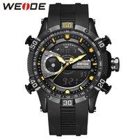 Relojes de pulsera Weide Hombres Mira Relogio Masculino Deportes Digital MIITIORES Relojes de cuarzo impermeable Resistente alectrónica Reloj despertador