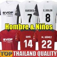 2021 2022 Valencia Futbol Formaları Camisetas G.Paulista Guedes Oliva Gaya Manu Vallejo Eve Away 21 22 Futbol Gömlek