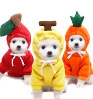 Одежда из домашних животных Симпатичные фрукты плюс бархатная толстовка осенью и зимний полиэстер теплый пиджак с капюшоном малые и средние кошки и собаки