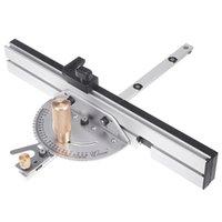 Conjuntos de herramientas de mano profesional de 450 mm de inglete de inglete de aluminio cerca W / Tabla de parada de pista Sierra Ruta del enrutador Ruler para herramientas de carpintería