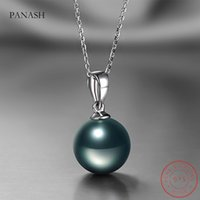 Natural Freshwater Pearl Pendant Necklace Fashion 925 Silver Boho Statement Necklaces luxury Jewelry