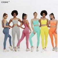 Frauen Trainingsanzüge Sport Fitness 2 PC Set Workout Kleidung für Trainingsanzug Frauen Zwei Teile Gym Frauen Kleidung Fall Matching Sets ZC2426