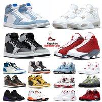 4s 1s retro Rojo metálico nike air jordan 4 4s vela blanco de los hombres zapatos de baloncesto Bred lo que el cemento puro dinero Oreo neón mens zapatillas de deporte 7-13