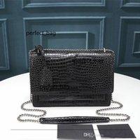 디자이너 럭셔리 핸드백 지갑 고품질 플랩 가방 일몰 체인 지갑 여성 체인 어깨 가방 패션 디자이너 크로스 바디 가방